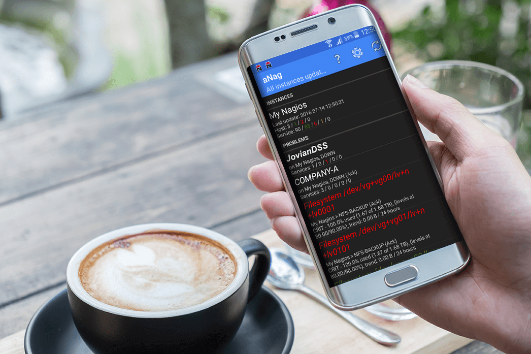 aNag Nagios client for Android devices